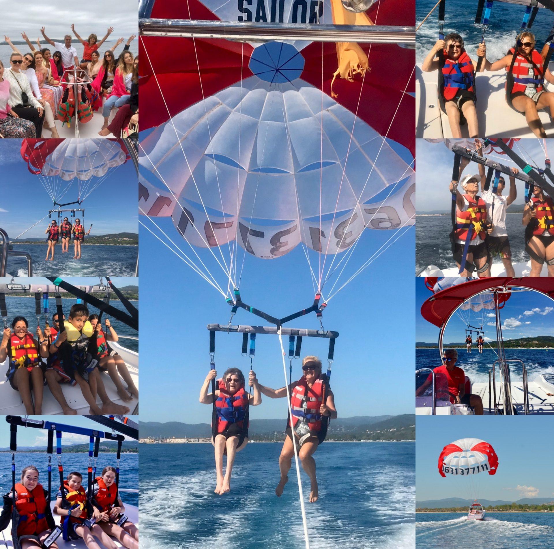 The Flying Sailor -Parachute Ascensionnel Golfe de Saint Tropez