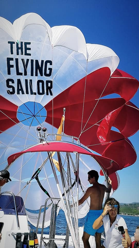 The Flying Sailor -Parachute Ascensionnel Golfe de Saint Tropez
